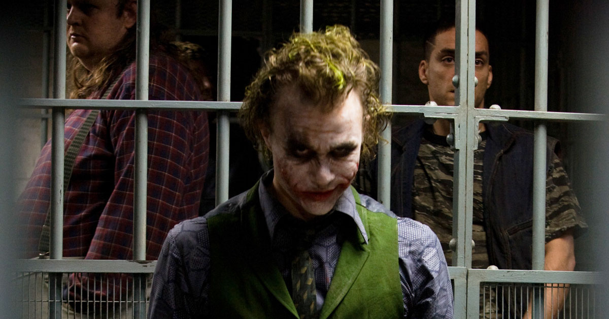 Martin Ballantyne with Heath Ledger in 'The Dark Knight'