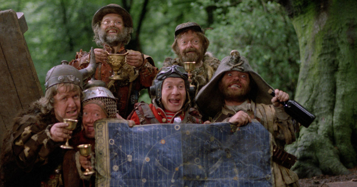 Mike Edmonds (left) in 'Time Bandits'