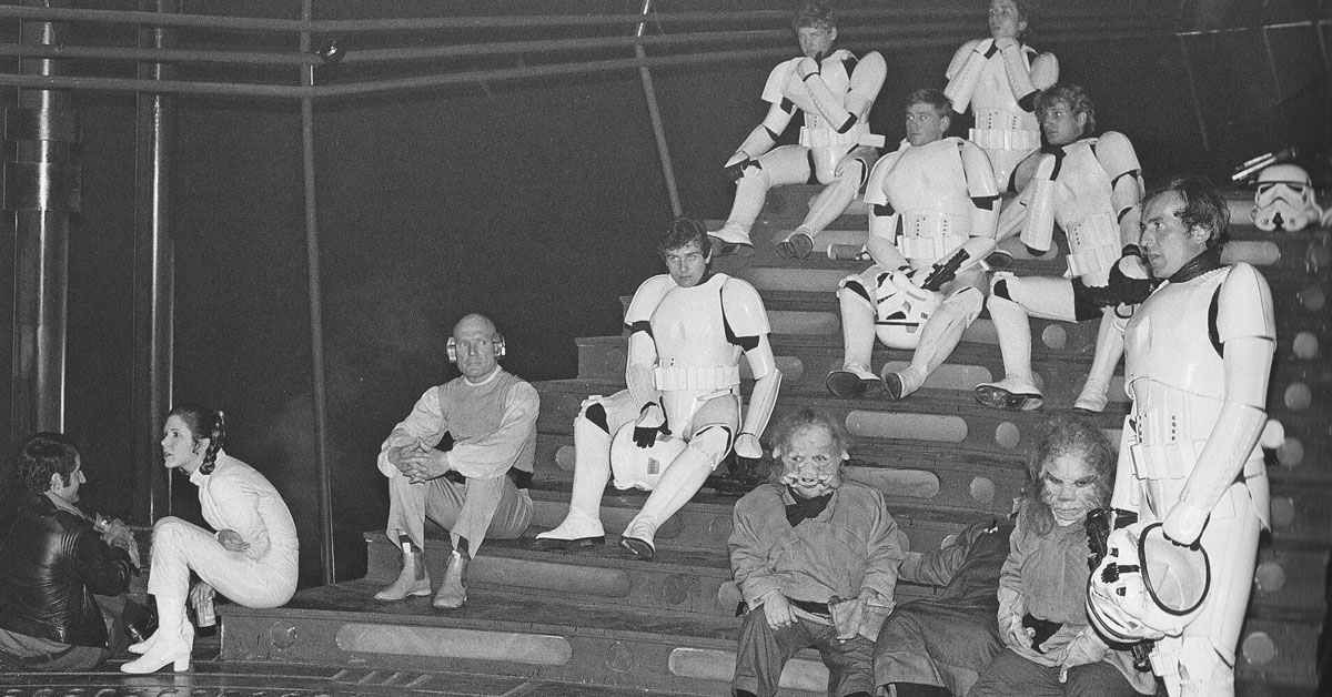 Ralph Morse on set (third Stormtrooper from the left)